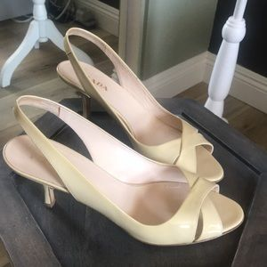 Prada light tan slingback heels, stunning, worn 3x